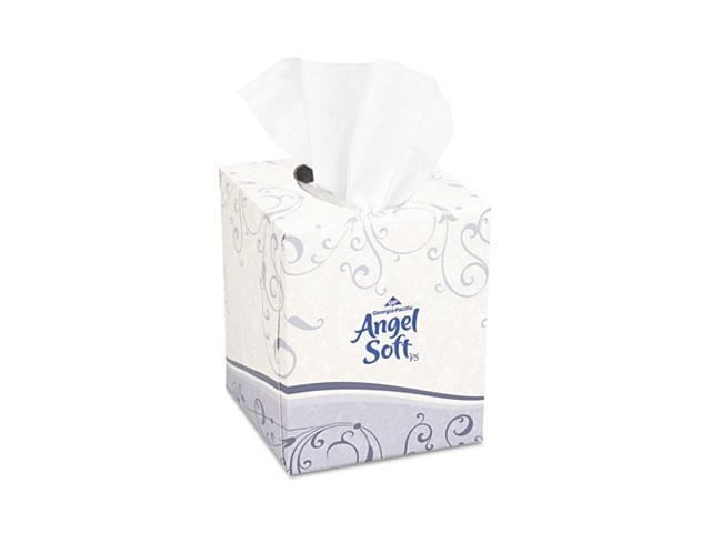 Georgia Pacific 46580BX Angel Soft ps Premium Facial Tissue, Cube Box, 96 Sheets/Box, White