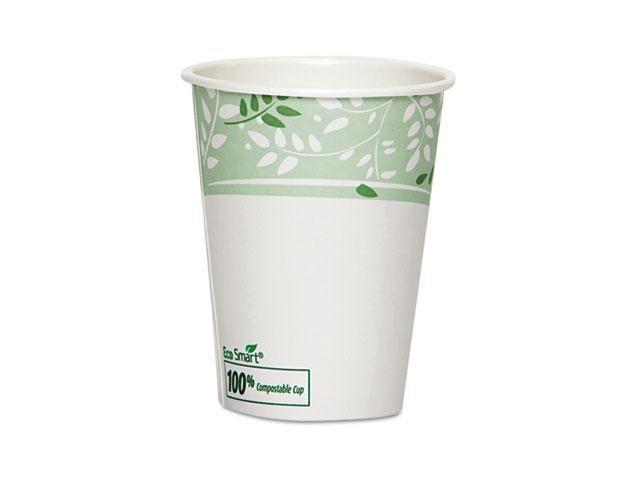 Dixie 2338PLA EcoSmart Hot Cups, PLA Lined Paper, Viridian, 8 oz., 1000/Carton
