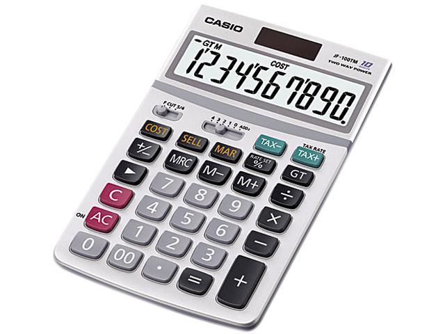 Casio JF-100MS JF100MS Desktop Calculator, 4-1/4w x 6-7/8d