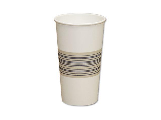 Boardwalk 20HOTCUP Paper Hot Cups, 20 oz., Blue/Tan, 20 Bags of 25, 500/Carton
