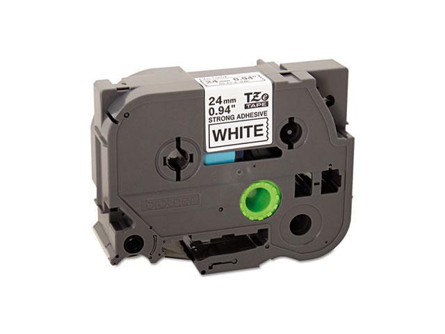 Brother TZES251 TZe Extra-Strength Adhesive Laminated Labeling Tape, 1w, Black on White