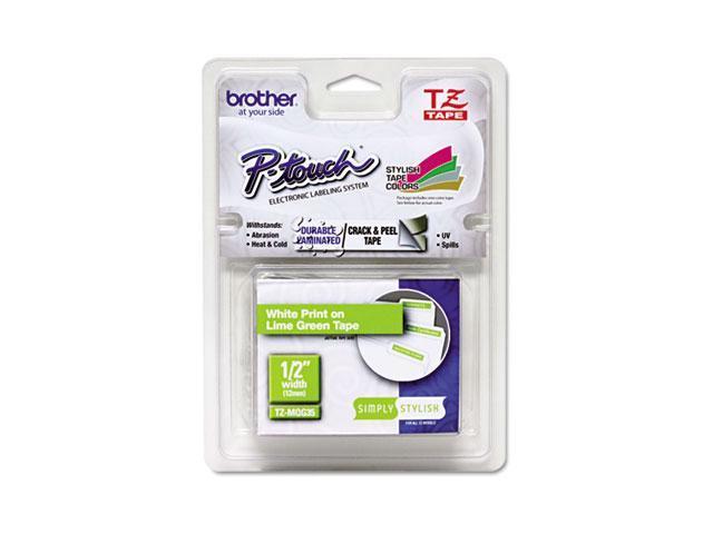 Brother TZEMQG35 TZ Standard Adhesive Laminated Labeling Tape, 1/2