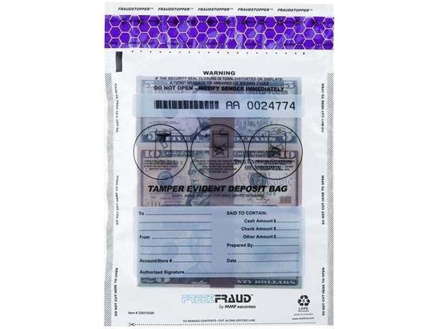 MMF Industries 236210420 FREEZFraud Bags, 12 x 16, Clear, 100/Box