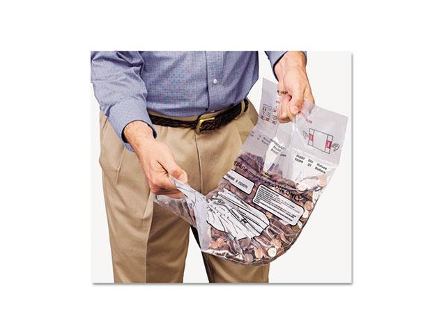 MMF Industries 2310421DBL20 Double Handle Coin Tote, 55 lb. Cap, 12 1/2 x 23 1/2, Clear, 100 Bags/Box