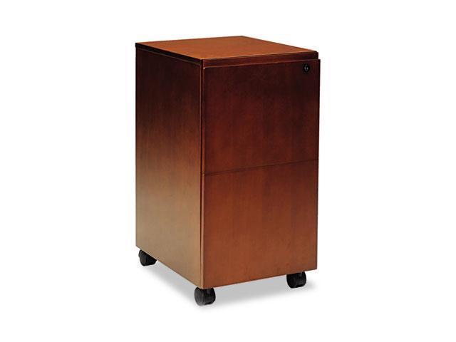 Mayline SKFFTOF Stella Series Veneer File/File Pedestal, 15¼w x 19d x 28¼h, Toffee