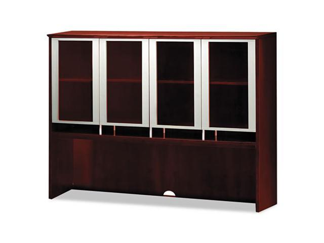 Mayline Napoli Series Assmbld Hutch with Glass Doors, 72w x 15d x 50½h, Sierra Chry