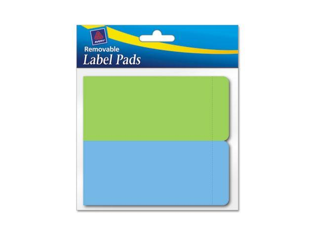 Avery 22022 Removable Label Pads, 2 x 4, Assorted, 80/Pack