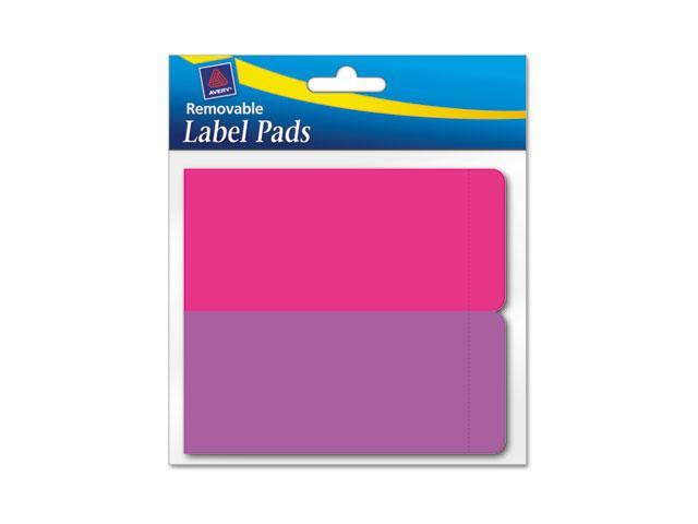 Avery 22021 Removable Label Pads, 2 x 4, Assorted, 80/Pack