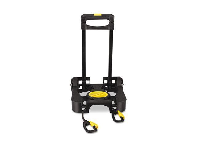 Kantek LGLC70R Lightweight Luggage Cart, 70 lb Capacity, 10 x 9 Platform, Steel/Aluminum, Black