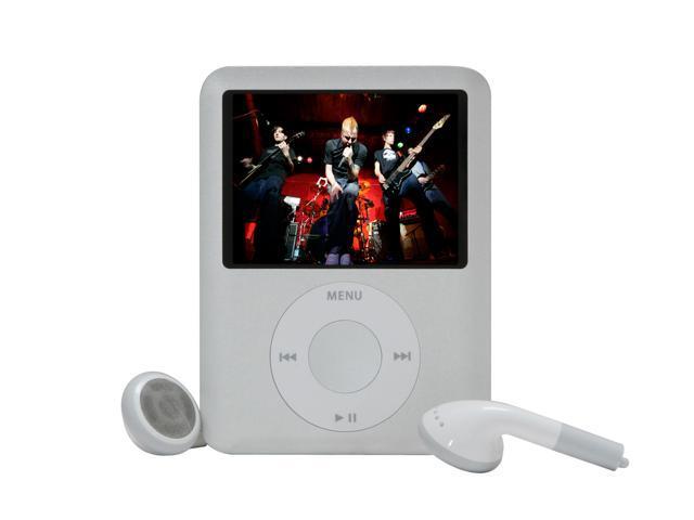 "Apple iPod nano (3rd Gen) 2.0"" Silver 4GB MP3 / MP4 Player MB245LL/A"