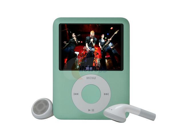 Apple - iPod nano 8GB - 3rd Gen (Green) MB253LL/A