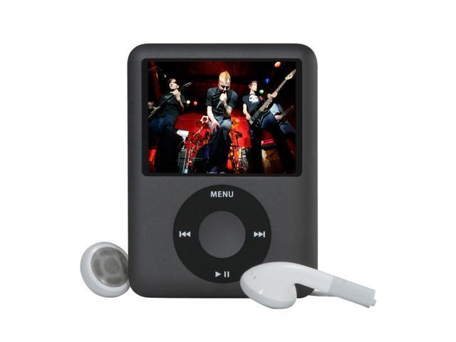 Apple 8GB iPod Nano - 3rd Gen (BLACK) MB261LL/A
