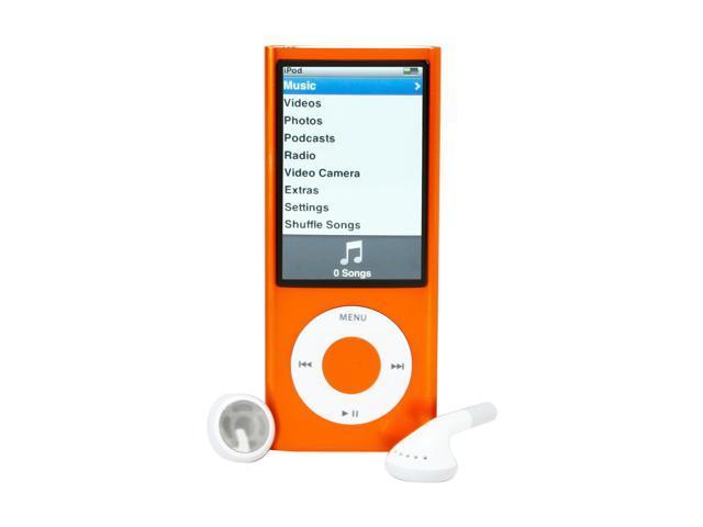 """Apple iPod nano (5th Gen) 2.2"""" Orange 8GB MP3 / MP4 Player MC046LL/A"""