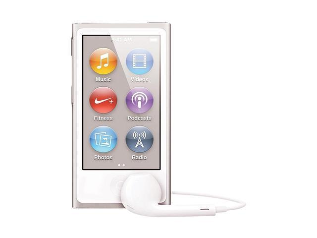 "Apple iPod nano (7th Gen) 2.5"" Silver 16GB MP3 Player MD480LL/A"