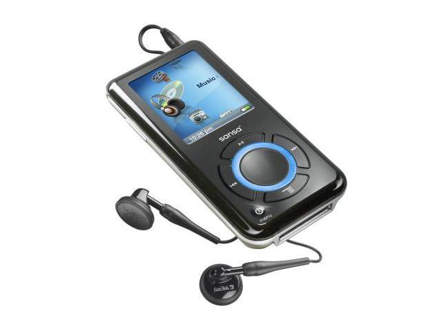 """SanDisk Sansa e200 1.8"""" Black 2GB MP3 Player Sansa e250"""