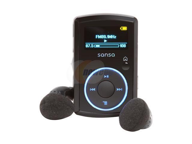 "SanDisk Sansa Clip 1.0"" Black 4GB MP3 Player"
