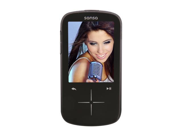 "SanDisk Sansa Fuze+ 2.4"" Black 8GB MP3 / MP4 Player SDMX20R-008GK-A57"
