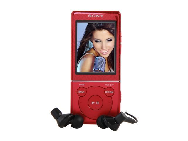 "SONY E470 Series 2'"" QVGA (320 x 240 Pixels) Red 4GB MP3 Player NWZE473RED"