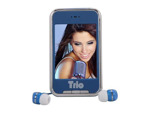 "Mach Speed 2.8"" Blue 4GB Media Player Trio Touch 4"