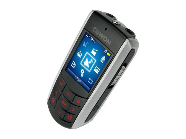 """iAUDIO F2 1.3"""" Black 2GB MP3 Player F2-2048BL"""