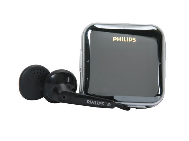 philips gogear black 2gb mp3 player sa2825 37. Black Bedroom Furniture Sets. Home Design Ideas