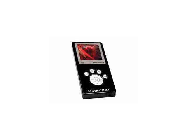 SUPER TALENT MEGA Plus Black 1GB MP3 Player