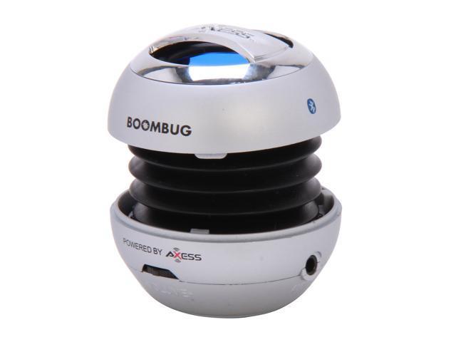 Boombug Bluetooth Portable Mini Premium Speaker - SPLBT12-2, Silver