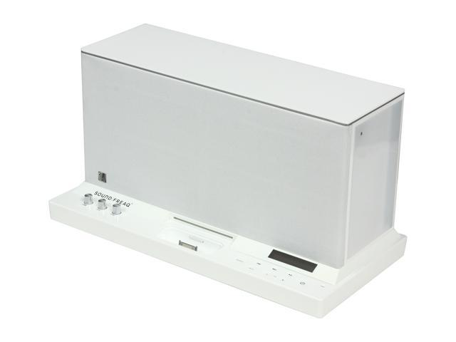 SoundFreaq SFQ-01W Sound Platform Speaker Dock (White) for iPhone, iPod, & Other Bluetooth Devices