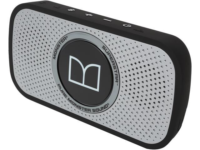 Monster Cable SuperStar HD Bluetooth Speaker-Blk/Grey