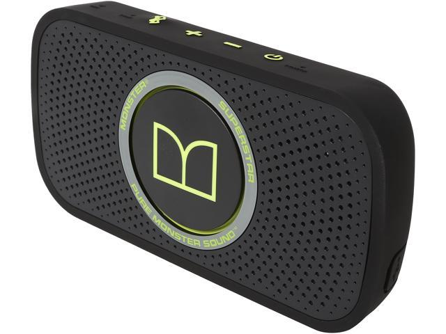 Monster Cable SuperStar HD Bluetooth Speaker-Blk/Green