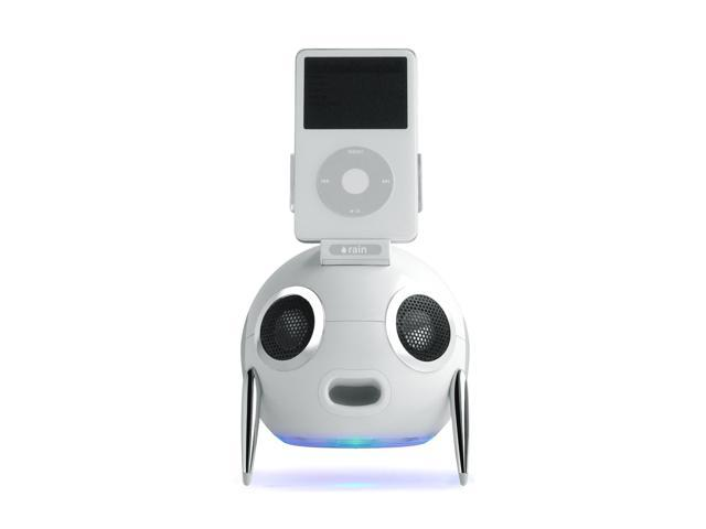 rain iWoofer 2.1 Speaker System w/ FM Radio for iPod (White) Model 10050