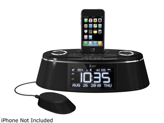iLuv IMM178 Vibe Plus - Dual Alarm Clock w/Bed Speaker Shaker for IPhone&IPod