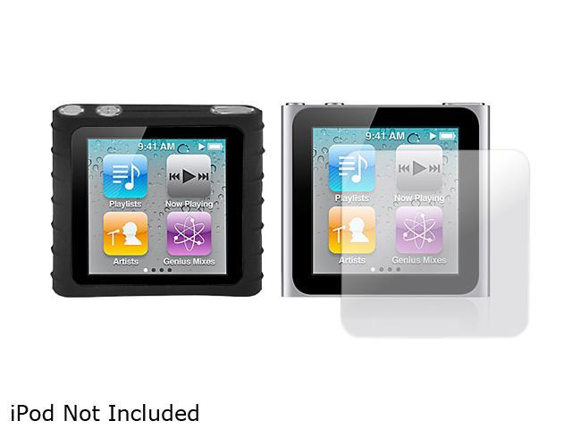 Mee audio - Sillcone Case and Screen Protector Kit for iPod Nano( 6th Gen)