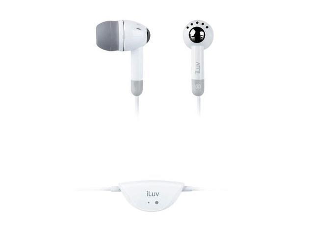 """iLuv Lightweight """"In-ear"""" White Earphone i301WHT"""