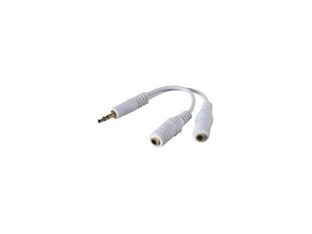 Belkin White F8V234-WHT Speaker and Headphone Splitter