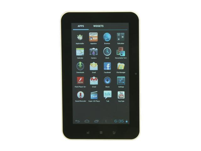 """Aluratek AT107F ARM iMAPx210 512 MB Memory 4GB Flash 7.0"""" Internet Tablet Android 4.0 (Ice Cream Sandwich)"""