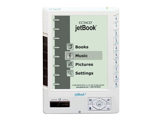 ECTACO jetBook e-Book Reader White JB5W-EN