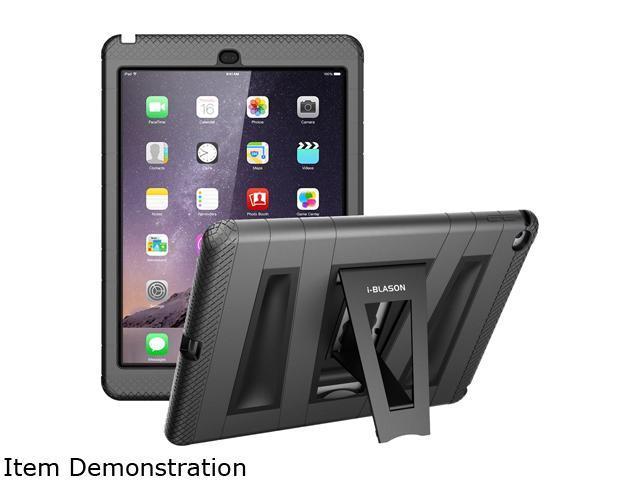 i-Blason Black ArmorBox 2 Layer Full-Body Protection KickStand Case for iPad Air 2 Model 4IBS32134
