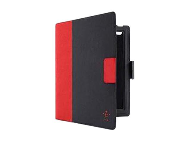 Belkin YourType Keyboard/Cover Case (Folio) for iPad - Black, Red