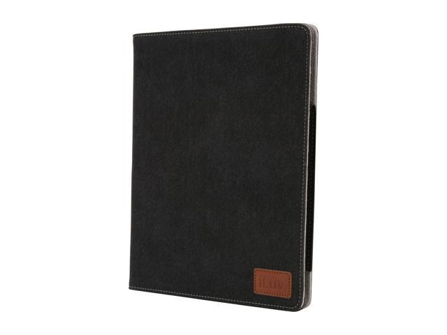 iLuv iCC834BLK Great Jeans Denim Finished Portfolio Case for iPad 2 and The New iPad - Black
