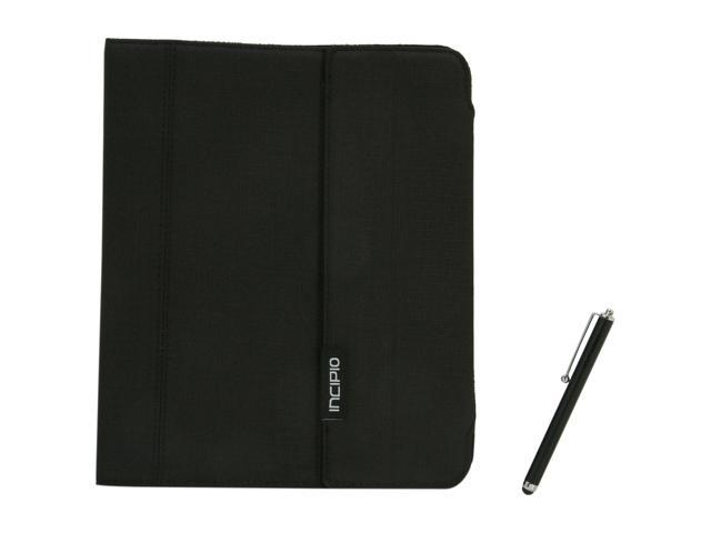 Incipio IPAD-250 New iPad Premium KICKSTAND Case with Stylus - Black Nylon