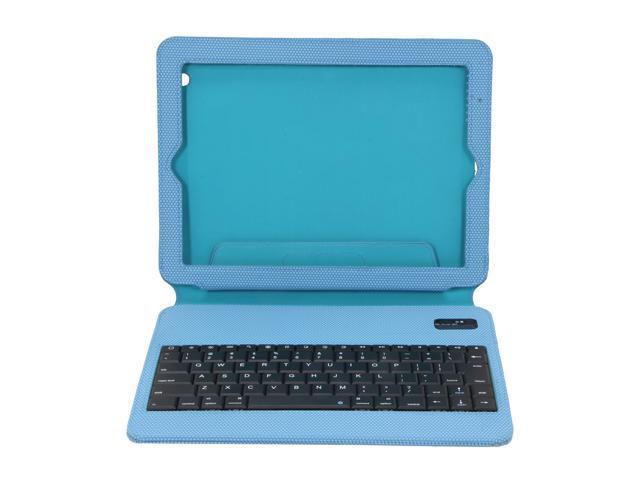 Blue Ultra Slim Non-Slip Grip Folio Case With Keyboard for iPad 2/3