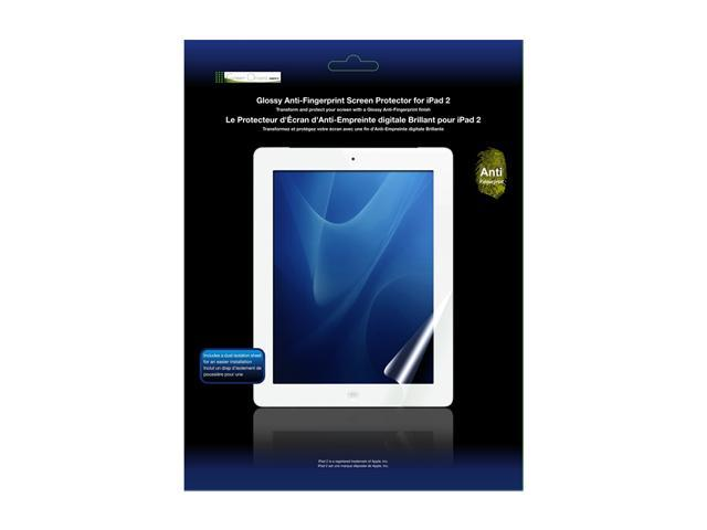 Green Onions Supply RT-SPIPAD201AF Glossy Anti-Fingerprint Screen Protector for iPad Clear