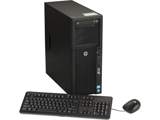 HP Z220 Workstation Convertible Minitower Server System Intel Xeon E3-1240V2 3.4GHz 4C/8T 8GB DDR3 Windows 7 Professional ...