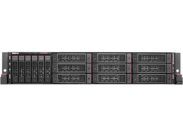 Lenovo ThinkServer RD650 Rack Server 2 x Intel Xeon E5-2690 v3  2.6 GHz 128GB 8 x 16 GB 2133 MHz RDIMM 2 x 120GB 2.5