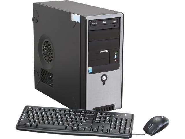 Avatar A-Workstation Mid-Tower ATX Server System Intel Core i7-4770 3.4GHz 4C/8T 8GB DDR3 1600 Windows 7 professional (Media ...