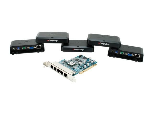 NComputing X-Series Thin Client desktop virtualization kits Server System X550