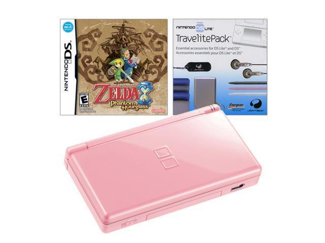 nintendo ds lite pink zelda bundle pink nintendo ds lite console. Black Bedroom Furniture Sets. Home Design Ideas