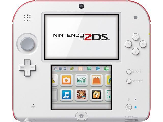 Nintendo 2DS Hardware Scarlet Red With Super Mario Bros 2