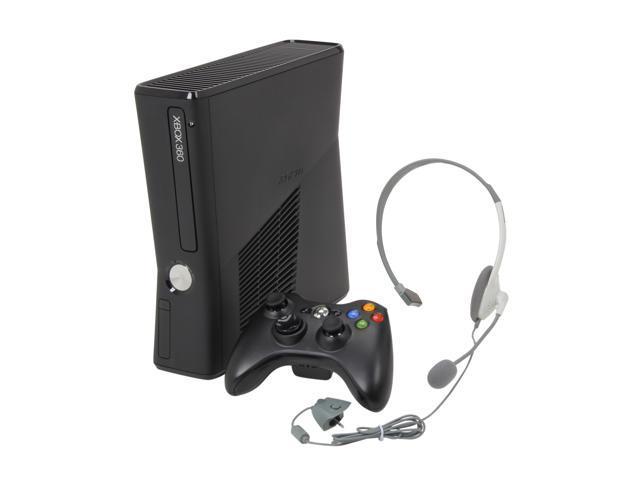 Microsoft Xbox 360 Slim 4GB internal flash memory Black